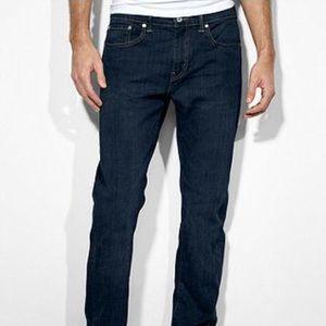 Levi's dark wash slim straight leg jeans